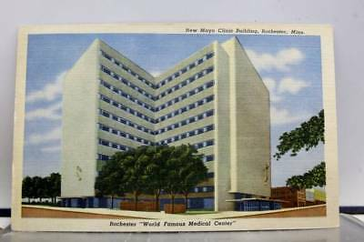 Minnesota MN Mayo Clinic Building Rochester Postcard Old Vintage Card View Post