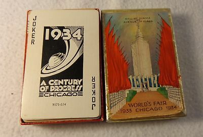 1933-34 Playing Card Deck from The Century of Progress Worlds Fair Chicago