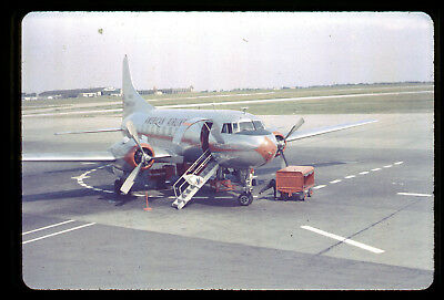 2 Early Buffalo NY American Airline Convair and Airport 1950s 35mm Color Slide s