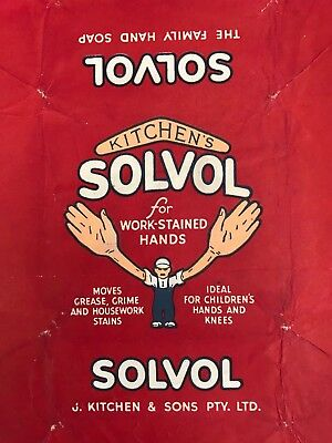 SOLVOL SOAP - ORIGINAL WRAPPER - 1940's -grocery shop