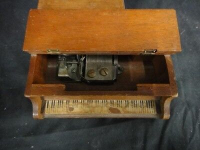 Thorens Wood Musical Piano 1946 handmade Swiss Switzerland rare wooden music box