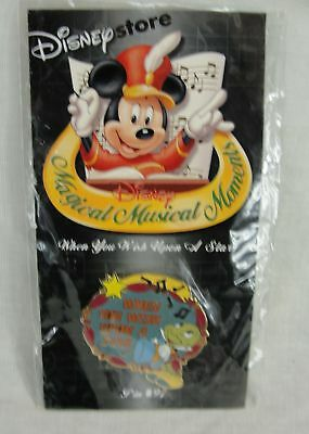 New Disney Store When You Wish Upon A Star Jiminy Cricket Pin Magical Musical