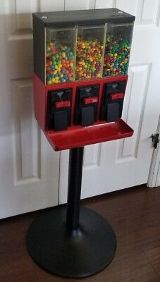 CUSTOM PAINT Red and Black Single Vend Star 3000 Candy Machine WITH KEYS