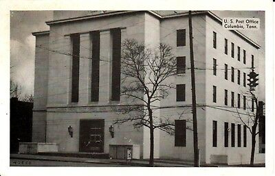 1940's The U.S. Post Office in Columbia, TN Tennessee PC