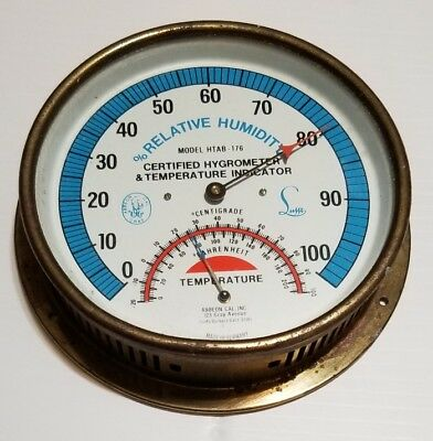 Vintage Abbeon Certified Hygrometer & Temperature Indicator, Germany Made