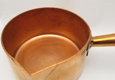 Vintage Villedieu France made heavy Copper Sugar chocolate pan