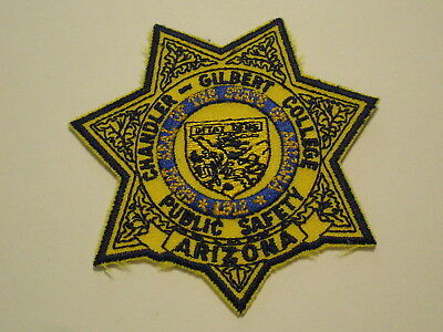 Chandler-Gilbert College Public Safety Patch Arizona Police