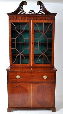 Antique American Federal mahogany secretary bookcase John Shaw Annapolis 1795