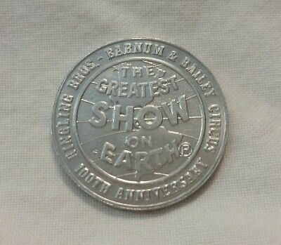 100th Anniversary Ringling Brothers & Barnum Bailey coin token Circus History