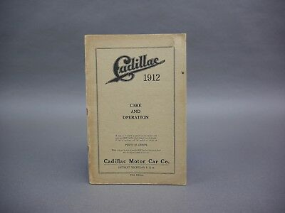 Early Brass Era Cadillac 1912 12 Care And Operations Manual See More 5Th Edition