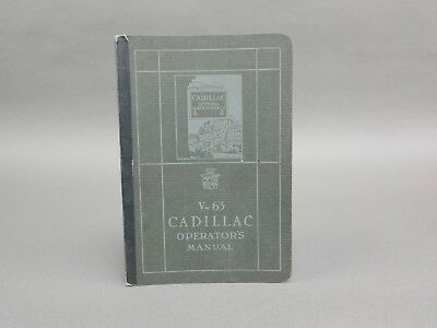1925 V-63 Cadillac Operators Manual Excellent Condition  - See More This Week
