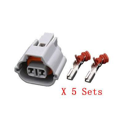 5 Sets 2 Pin car wiring harness connector plug with Terminal DJ7027A-2.2-21