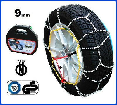 CATENE DA NEVE 9MM 265/70 R15 MITSUBISHI PAJERO I Canvas Top [01/1982->12/90]