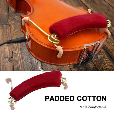 Red Violin Shoulder Rest Adjustable Spring Pad Support for Violin 3/4 4/4 Size