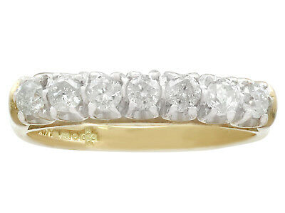 Contemporary 0.56 Ct Diamond and 18k Yellow Gold Half Eternity Ring