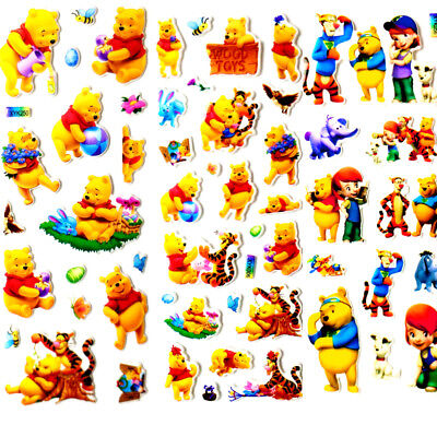 3D/Lot Cute Bear Stereoscopic PVC Puffy Stickers Crafts Toys Lot Of Value gift