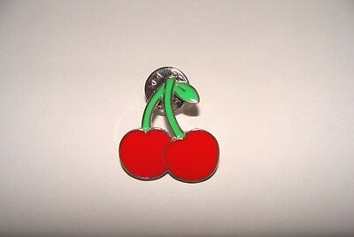 Pin S Metal Cerise    Cherrie  Enamel  Badge