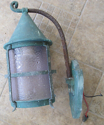Wow Amazing Antique Vintage Copper Outdoor Wall Light Fixture