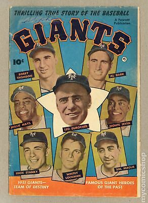 Thrilling True Story of the Baseball Giants #1 1952 VG- 3.5