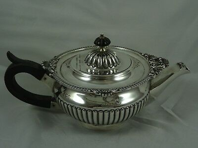VICTORIAN solid silver `BACHELORS` TEA POT, 1900, 366gm