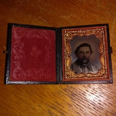 Antique Daguerreotype ~ Ambrotype ~ TinType Man Classically Rugged handsome