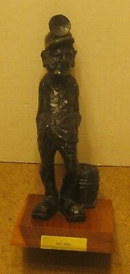 "VAN'S COAL CRAFT Beckley WV Hand Carved COAL MINER ""Big John"" Dated 1965 NR!!"