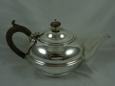 QUALITY solid silver TEA POT, 1918, 518gm