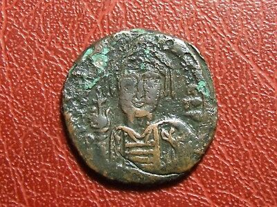 BYZANTINE EMPIRE Rare AE Follis bronze coin to identify