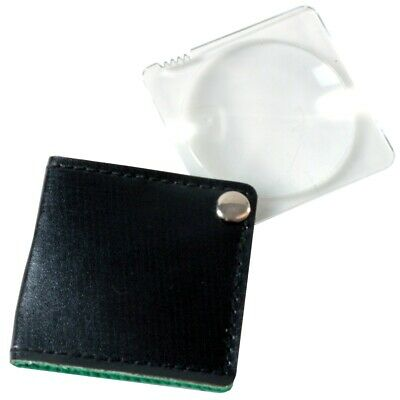 FOLD AWAY MAGNIFIER Travel Pocket Sized Small Magnifying Glass Reading Text Book
