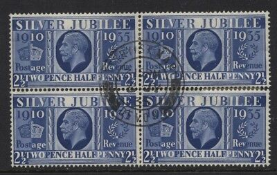 1935 2½d SILVER JUBILEE VERY FINE USED BLOCK OF FOUR. SG 456