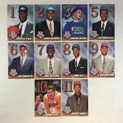 NBA HOOPS 1992-1993 DRAFT LOTTERY REDEMPTION 10 Card Set SHAQUILLE O'NEAL RC