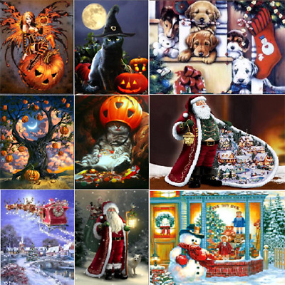 Diamond Painting Xmas Halloeen 5D Embroidery Cross Craft Stitch Home Gift