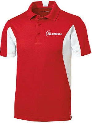 900 Global Men/'s Compass Performance Polo Bowling Shirt Dri-Fit Royal Blue White