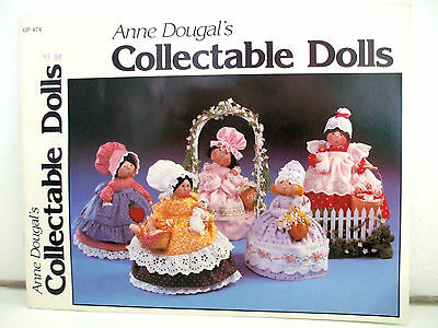 Vintage 80's COLLECTABLE DOLLS Pattern Book - 7 Country Girl Dolls - UNCUT