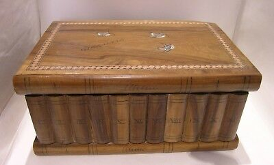 Antique Olivewood Gibraltar Puzzle Jewel Box A/F