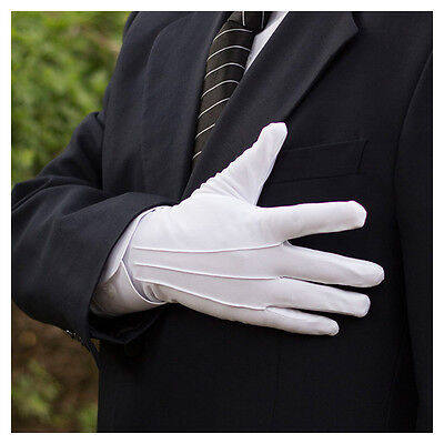 5/10/20 Pairs Men Formal Gloves Tuxedo Honor Guard Parade Santa Inspection White