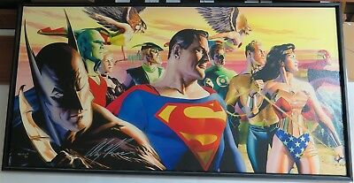 In the Light of Justice League Alex Ross NEW Signed Giclee Canvas PP JLA 20x41