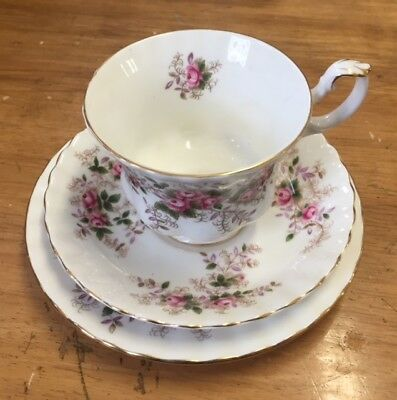 Royal Albert Lavender Rose  vintage trio Cup / saucer / tea plate