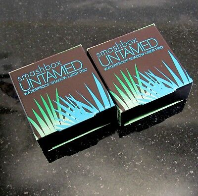 LOT OF TWO Smashbox Untamed WATERPROOF SHADOW LINER trio SAVAGE  New In Box