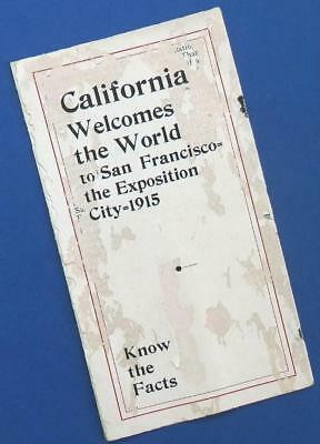 "1915 Panama-Pacific Expo San Francisco ""California Welcomes the World"" brochure"