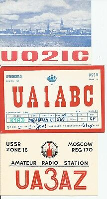 Three nice QSL Radio cards from Russia