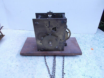 Antique English Long Case Grand Father Clock Movement with Chains Spares Repair