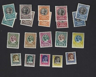 LUXEMBOURG sc#B25-9 x2 #B30-4,B40-4 (1927-30) COMPLETE MH