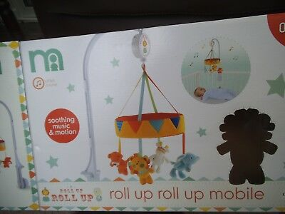 mothercare roll up roll up musical cot mobile