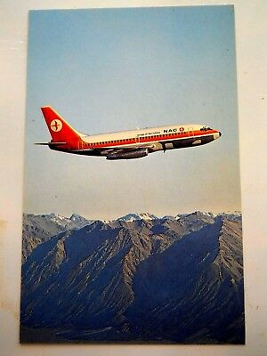 Airlines....nac  New Zealand Issued Postcard..boeing 737.......unused...