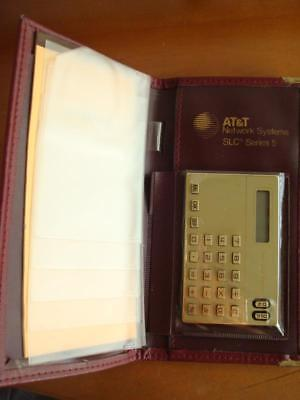 Vintage At&t Network Slc Series 5 Wallet Calculator