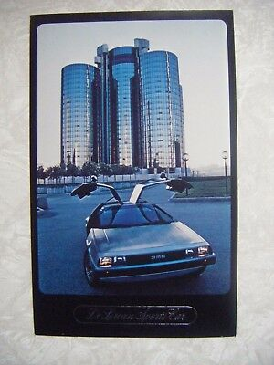 1981 1982 ? DeLorean Large Factory Postcard