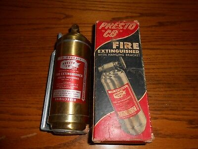 Presto CB Fire Extinguisher Hanging Bracket and Box PM6 NICE!
