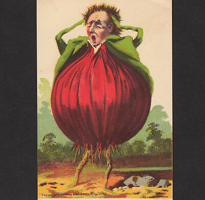 Vegetable 1885 © Red Onion Anthropomorphic Veggie People Advertising Trade Card