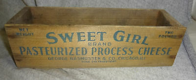 2Lb Sweet Girl Wooden Cheese Box​- Chicago Il